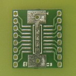 SMT SMD DIL adaptor SOIC 16 PIN NARROW w Ground Plane